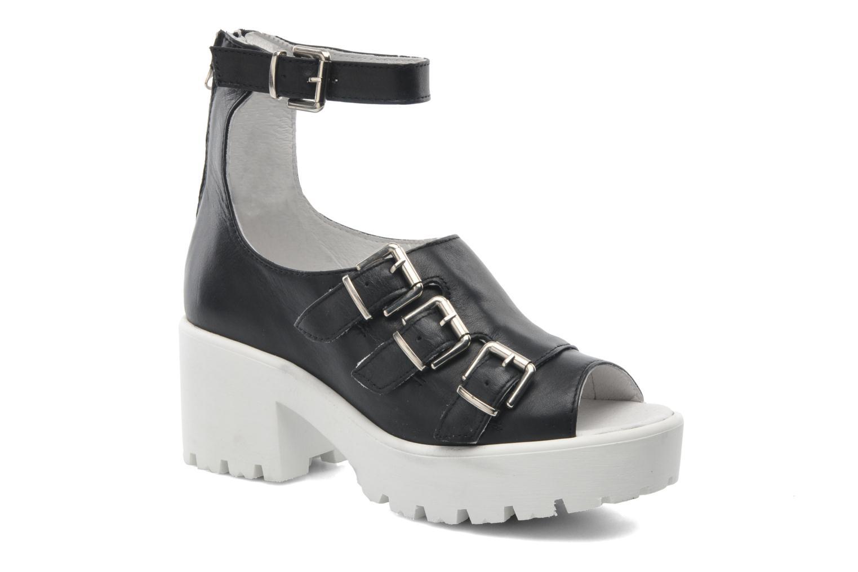 Olga 1 Black smooth leather