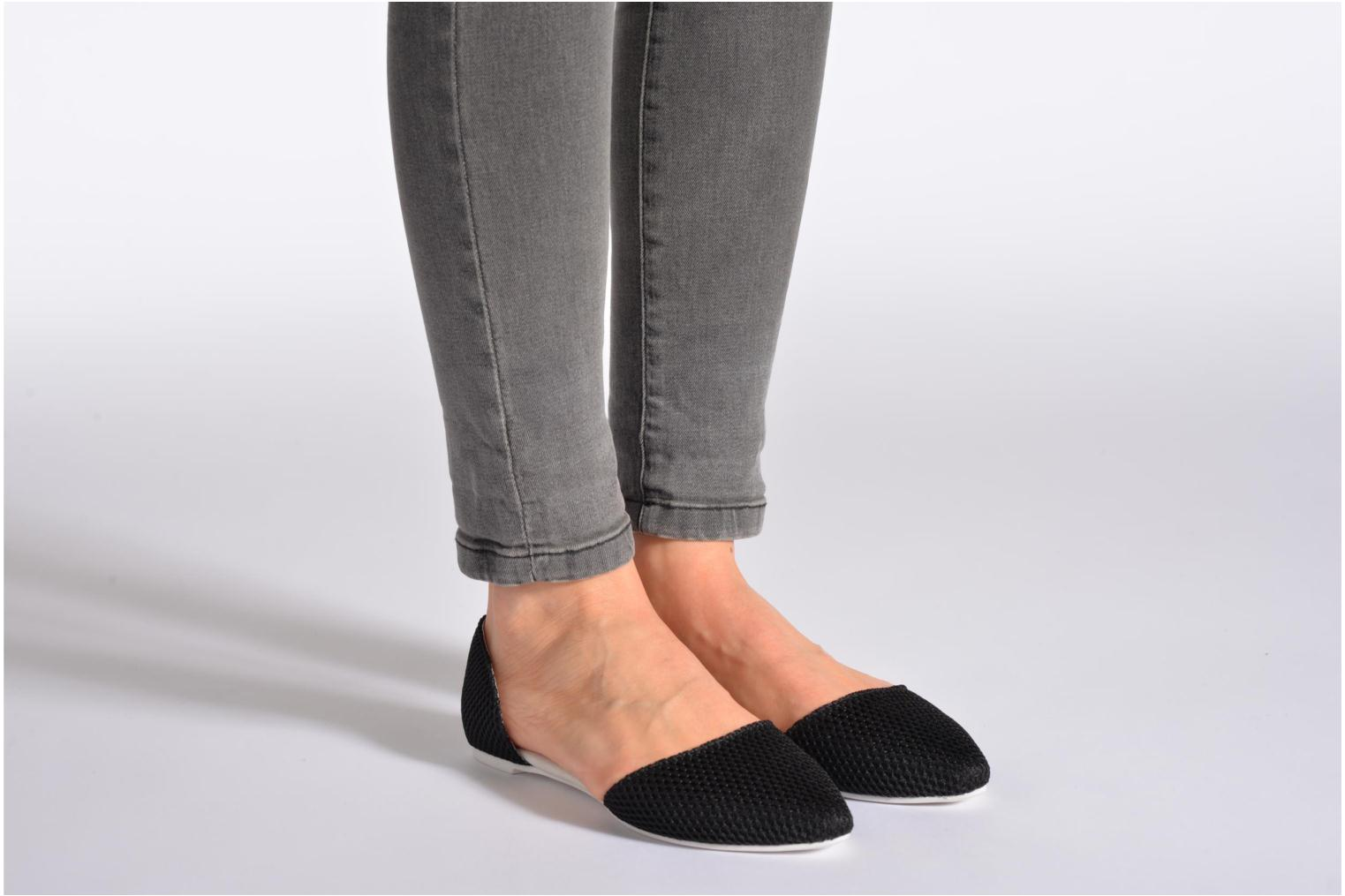 Ballet pumps Jeffrey Campbell In Love Black view from underneath / model view