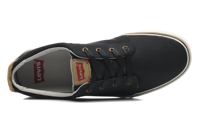 Sneaker Levi's Justin Low Lace schwarz ansicht von links