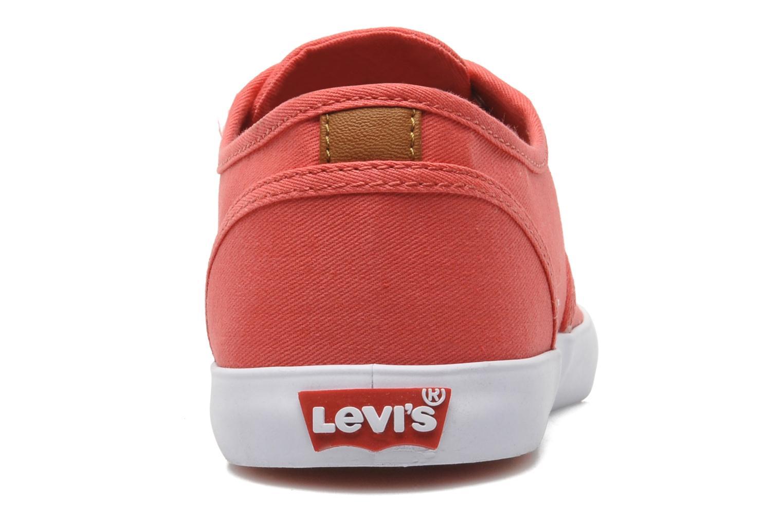 Sneaker Levi's Palmdale Lace Up rosa ansicht von rechts