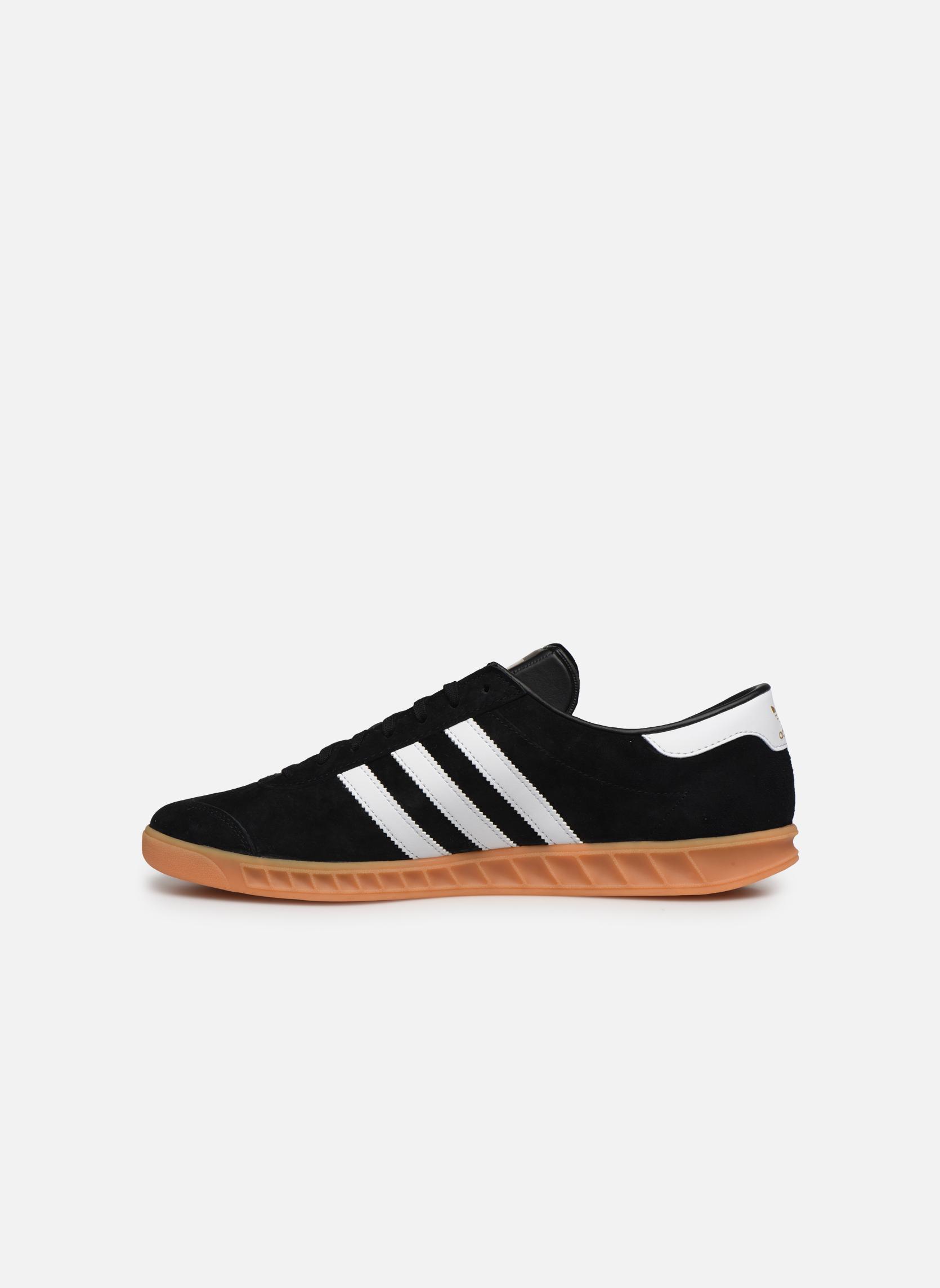 Sneaker Adidas Originals Hamburg schwarz ansicht von vorne