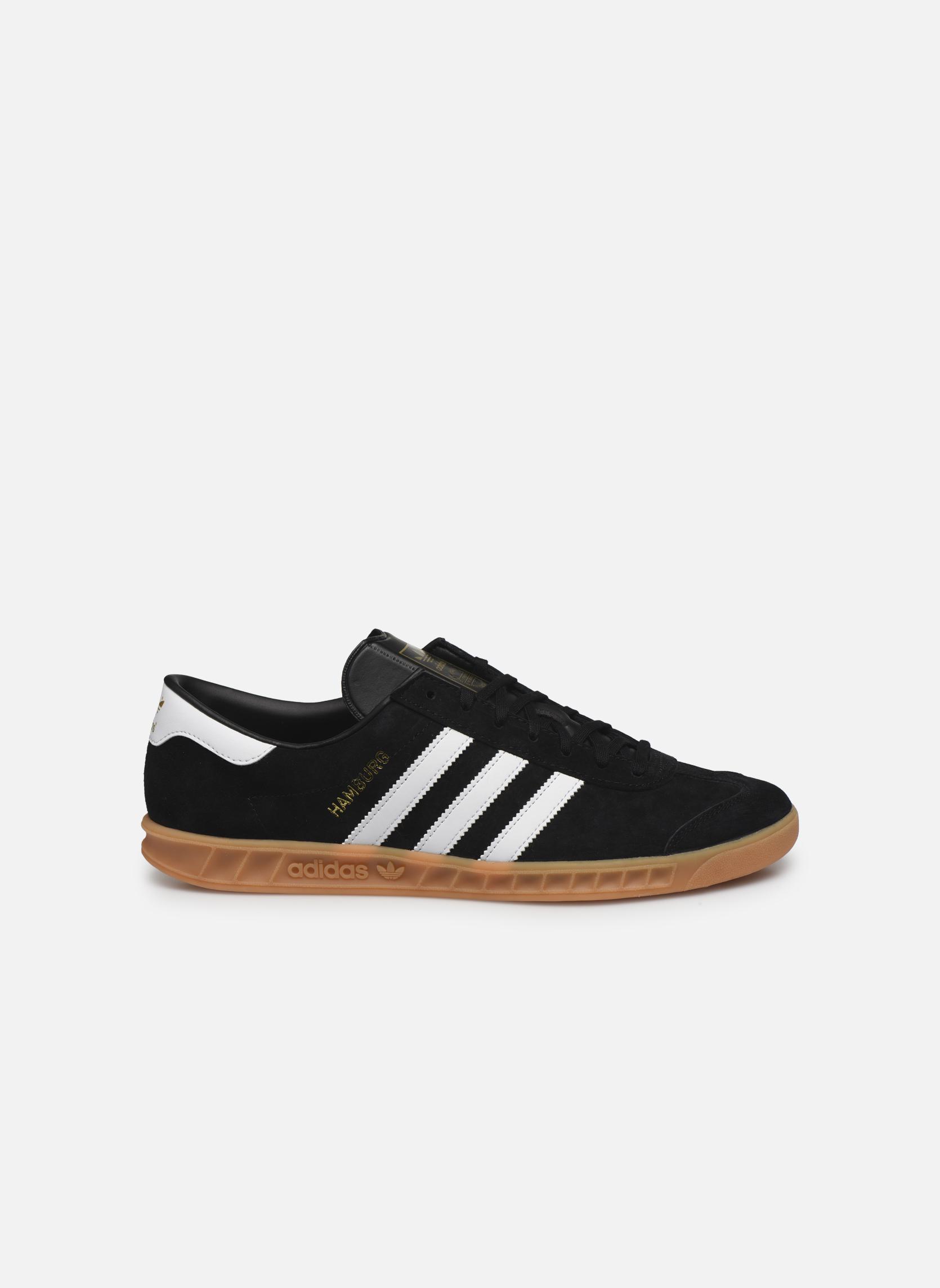 Sneaker Adidas Originals Hamburg schwarz ansicht von hinten