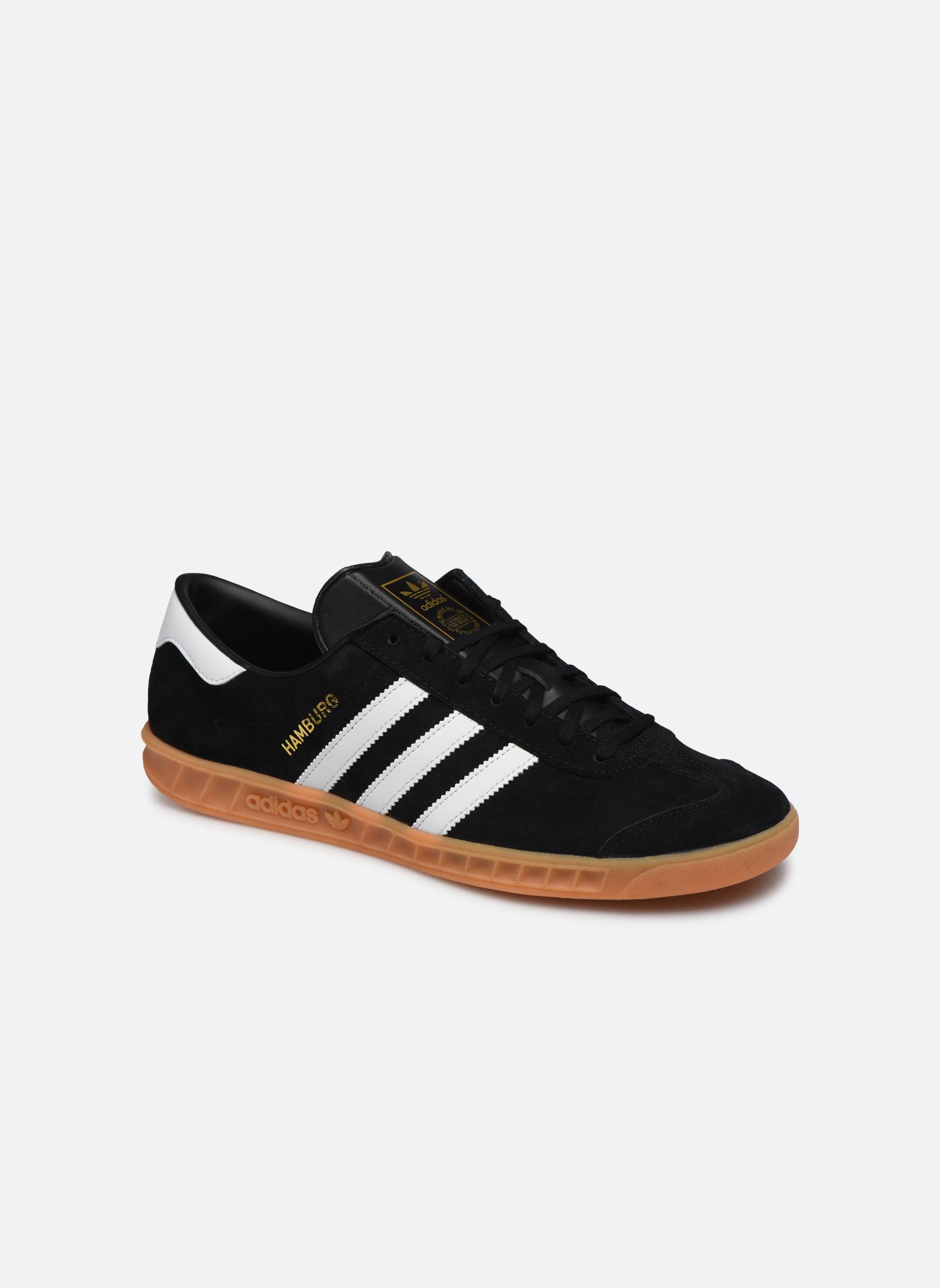 Sneakers Adidas Originals Hamburg Zwart detail