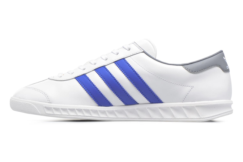 Sneaker Adidas Originals Hamburg weiß ansicht von vorne