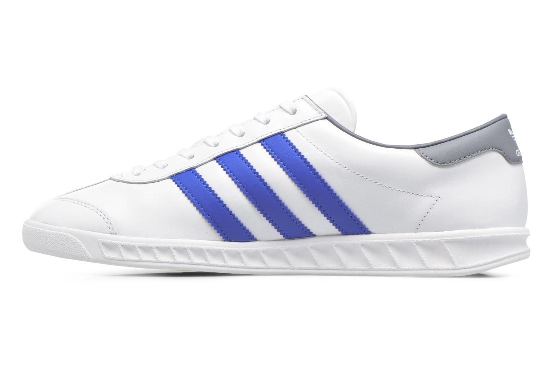 Baskets Adidas Originals Hamburg Blanc vue face