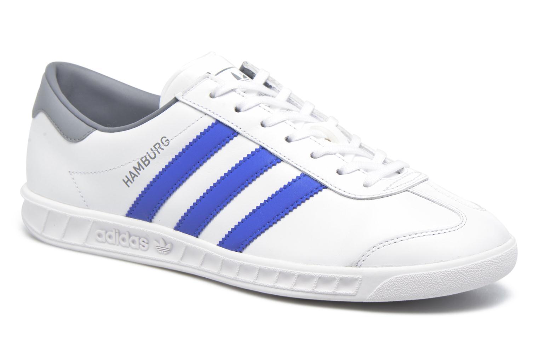 Baskets Adidas Originals Hamburg Blanc vue détail/paire