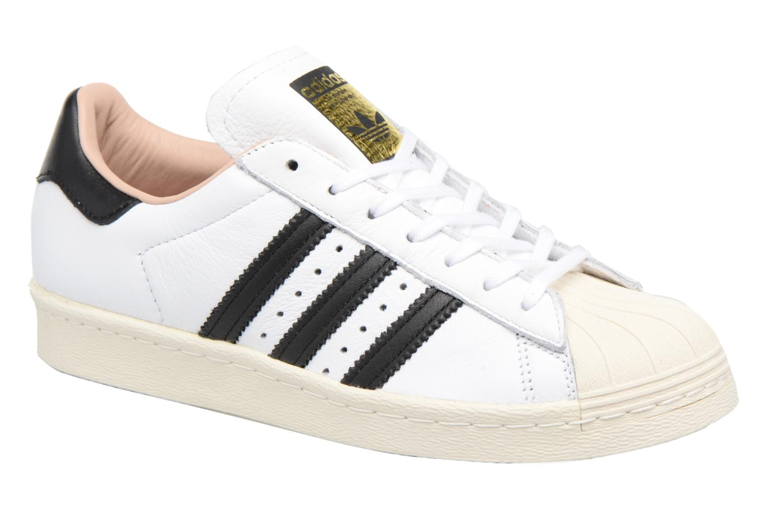 Baskets Adidas Originals Superstar 80S W Blanc vue détail/paire