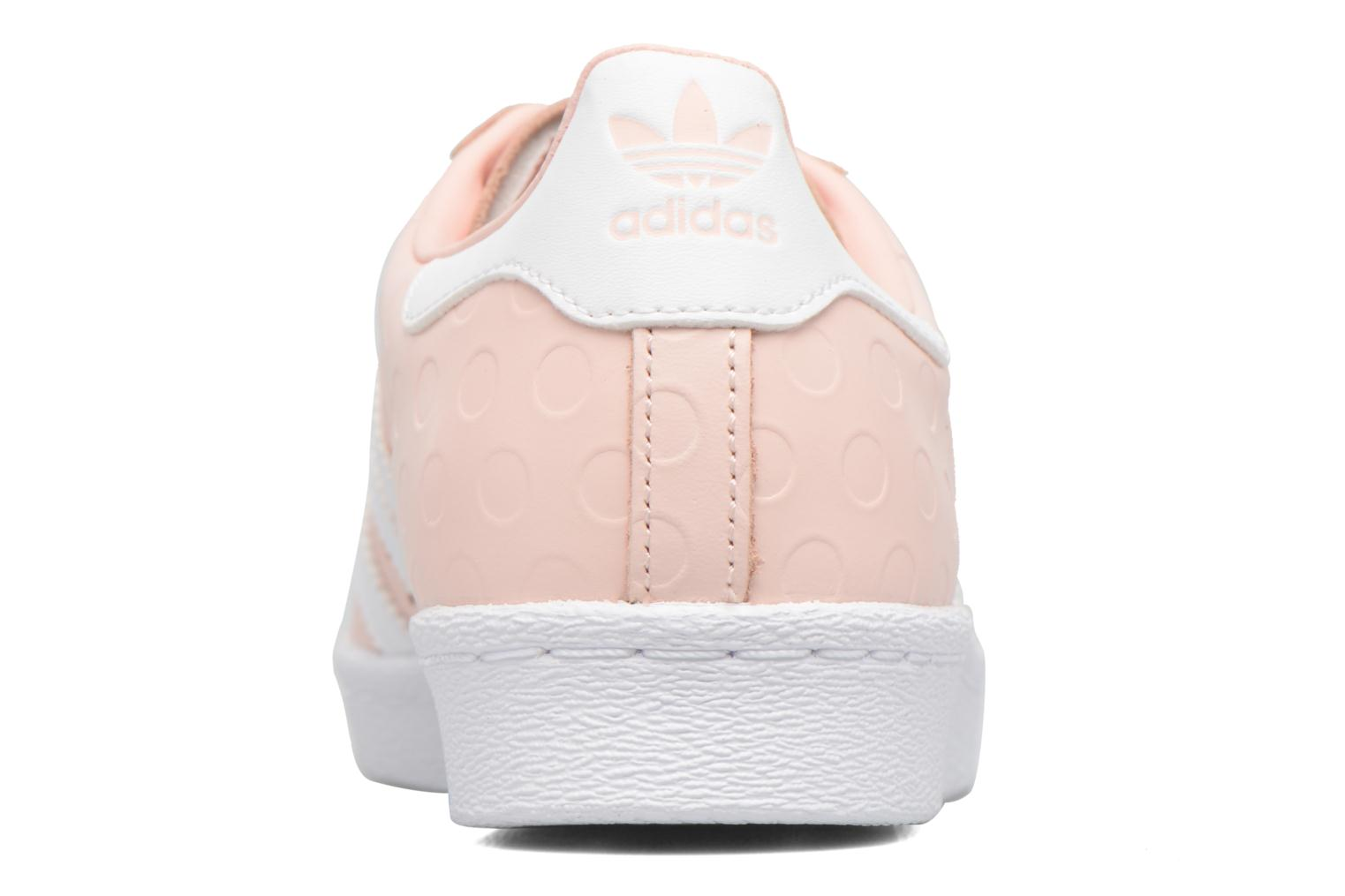 Trainers Adidas Originals Superstar 80S W Pink view from the right