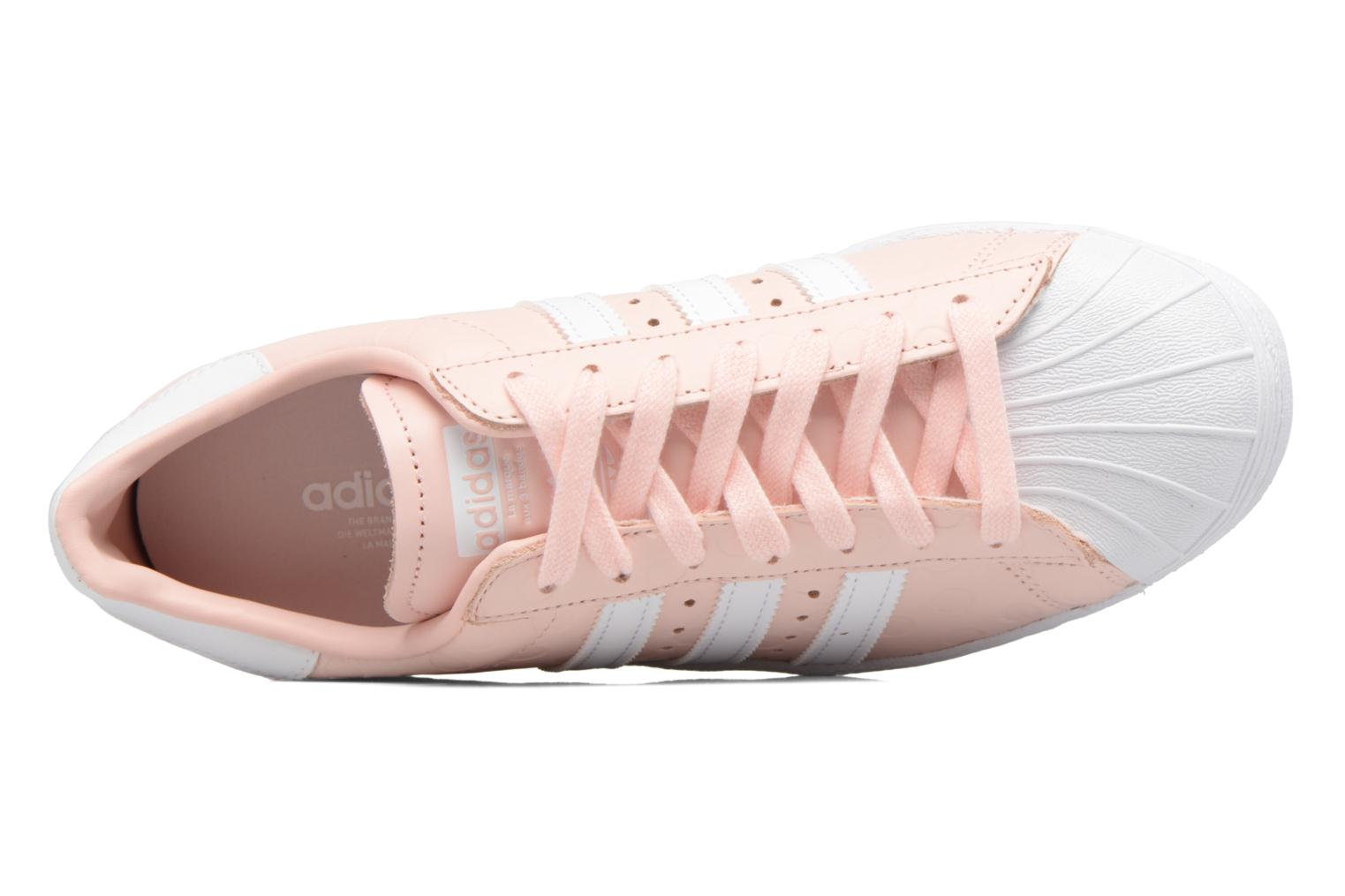 Trainers Adidas Originals Superstar 80S W Pink view from the left