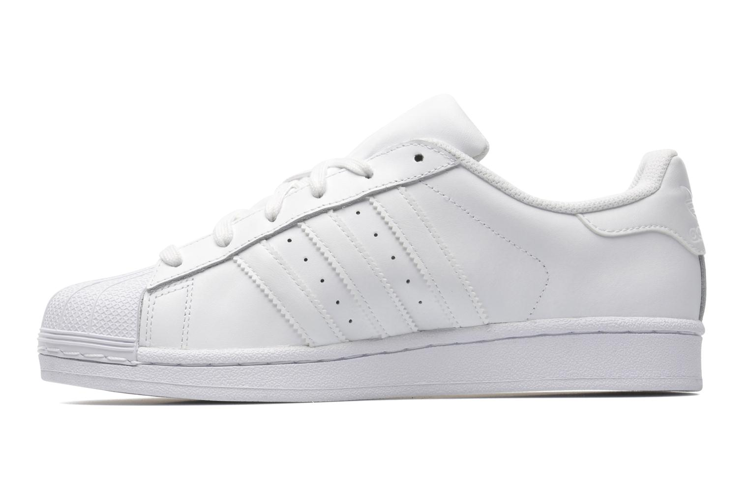 Sneakers Adidas Originals Superstar Foundation Hvid se forfra