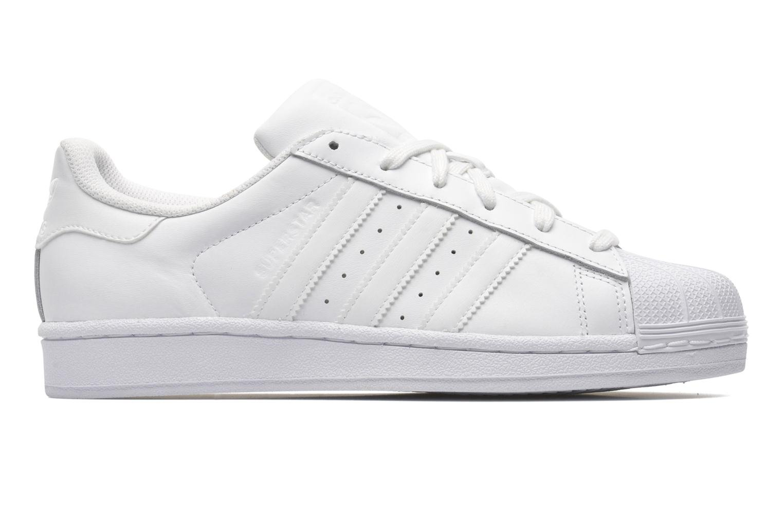 Sneakers Adidas Originals Superstar Foundation Hvid se bagfra