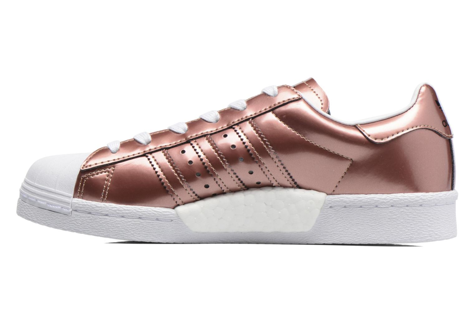 Baskets Adidas Originals Superstar W Or et bronze vue face