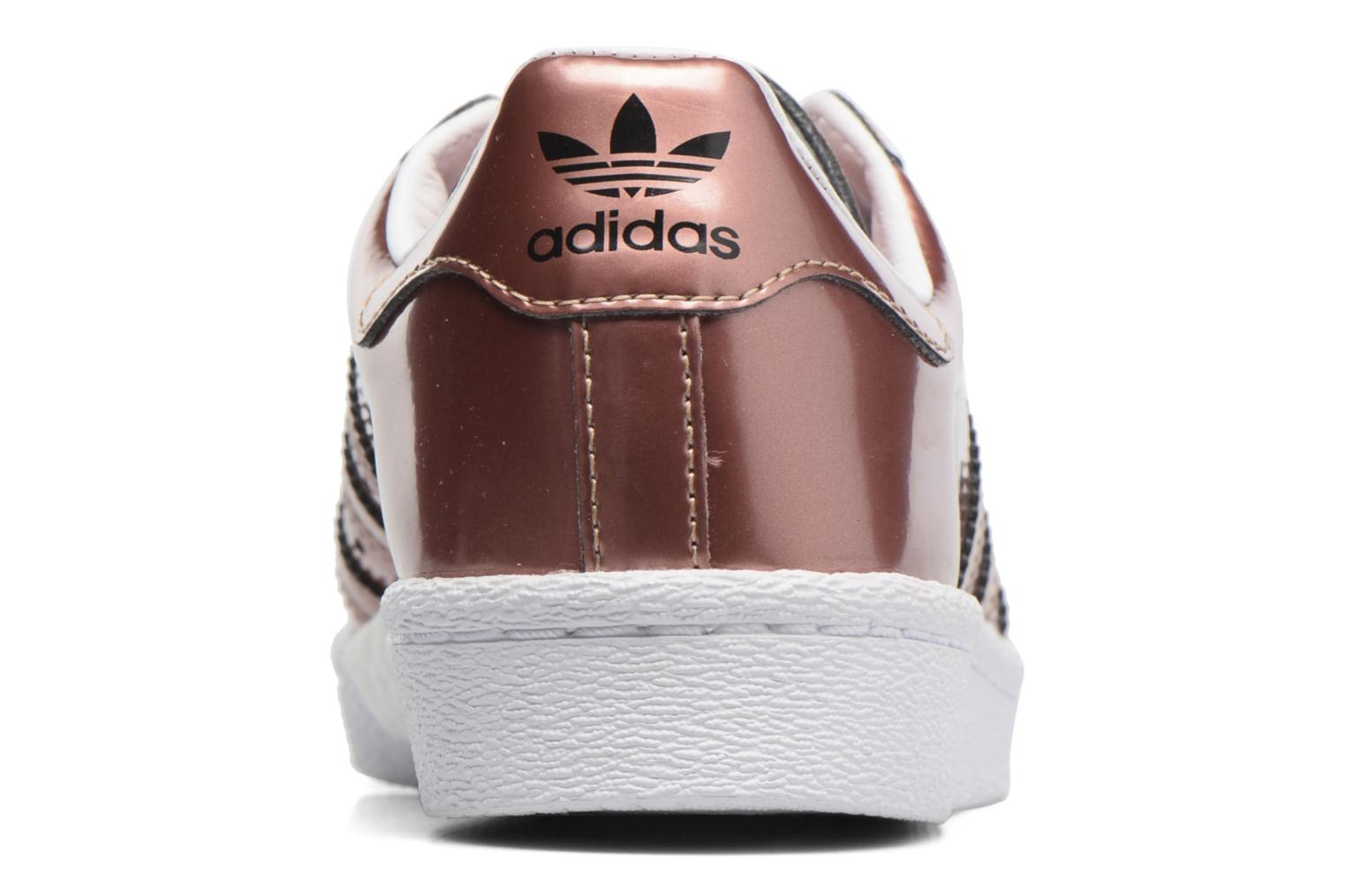 Trainers Adidas Originals Superstar W Bronze and Gold view from the right
