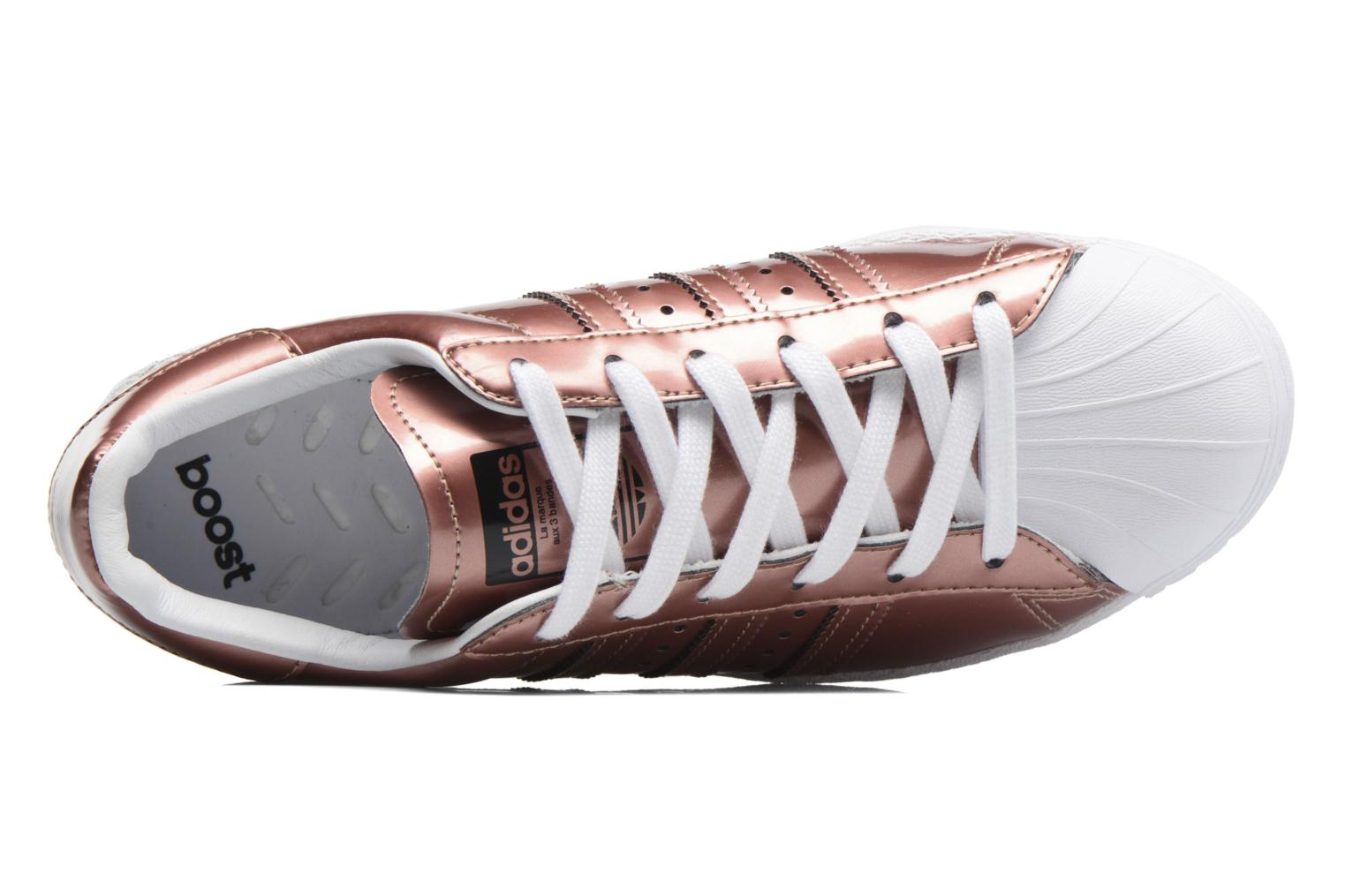 Baskets Adidas Originals Superstar W Or et bronze vue gauche