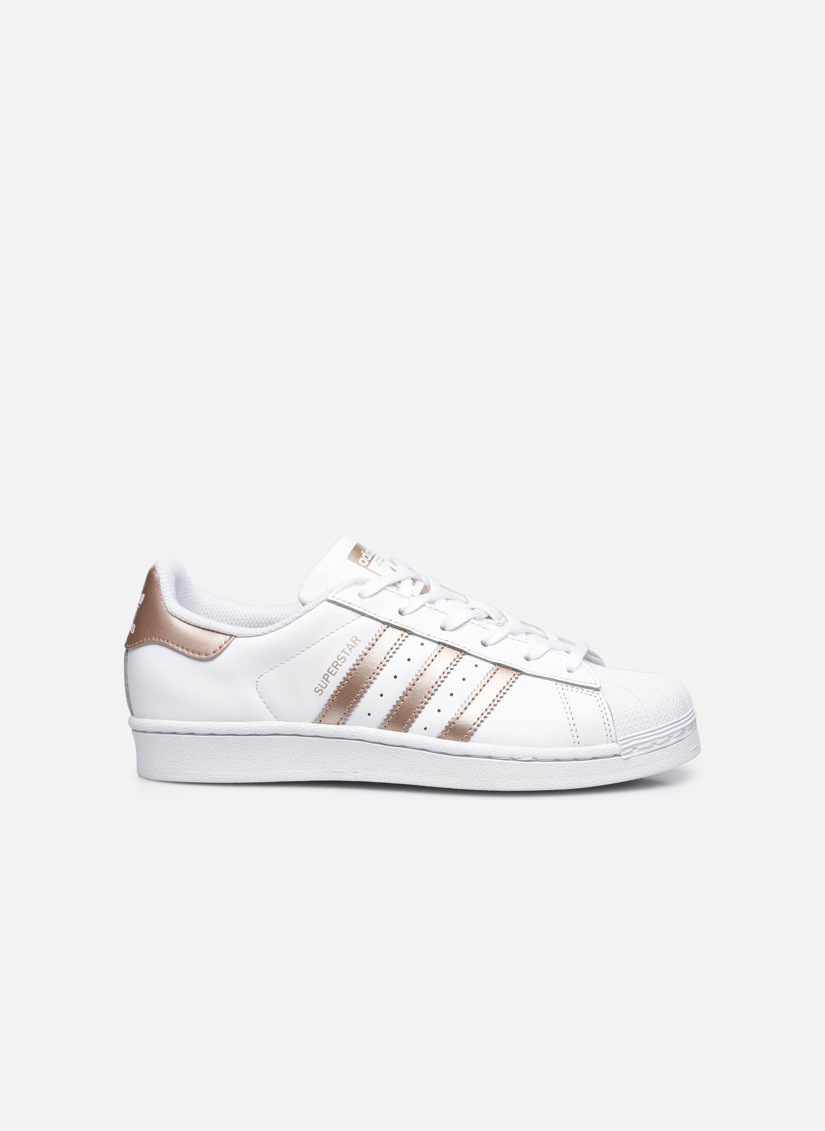 Sneakers Adidas Originals Superstar W Vit bild från baksidan
