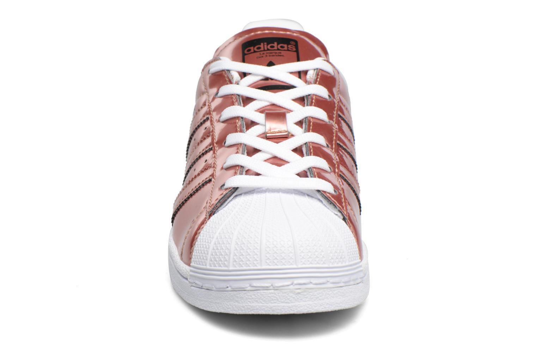 Sneaker Adidas Originals Superstar W gold/bronze schuhe getragen