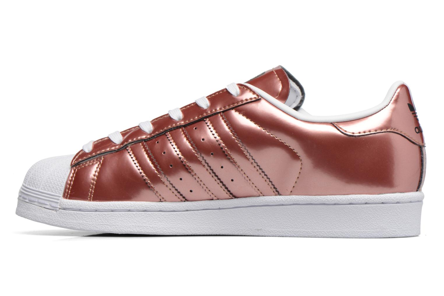 Trainers Adidas Originals Superstar W Bronze and Gold front view