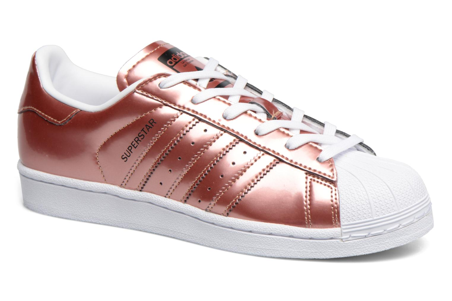 Trainers Adidas Originals Superstar W Bronze and Gold detailed view/ Pair view