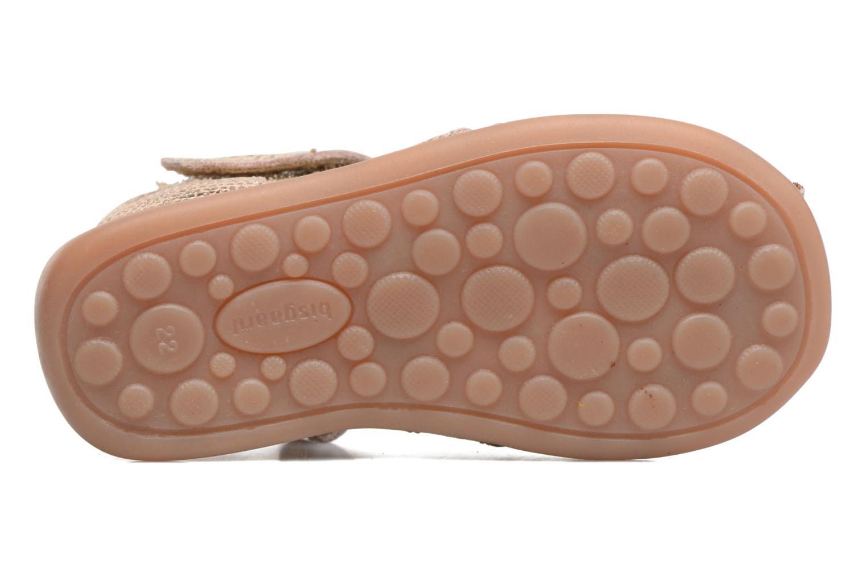 Sandales et nu-pieds Bisgaard Birthe Or et bronze vue haut
