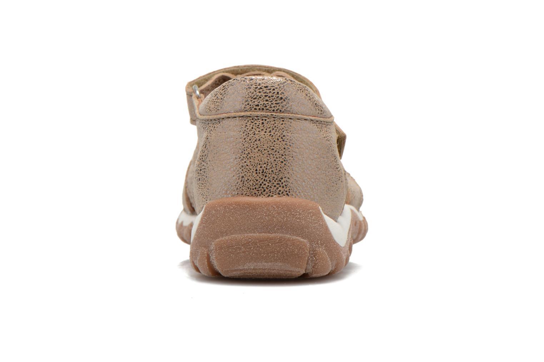 Sandales et nu-pieds Bisgaard Karen Or et bronze vue droite