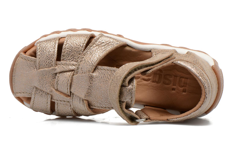 Sandales et nu-pieds Bisgaard Karen Or et bronze vue gauche