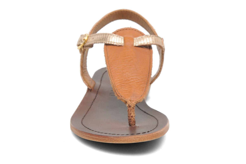 Sandalen Bisgaard Jette gold/bronze schuhe getragen