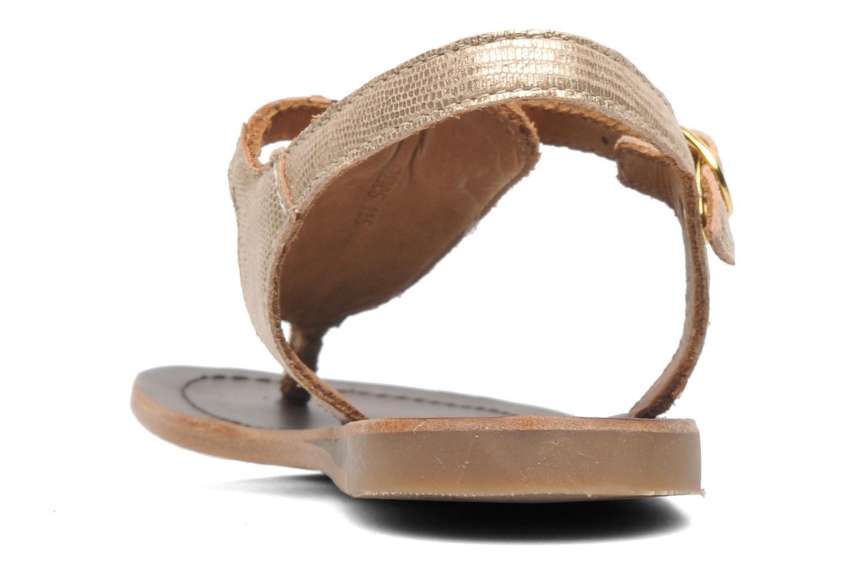 Sandales et nu-pieds Bisgaard Jette Or et bronze vue droite