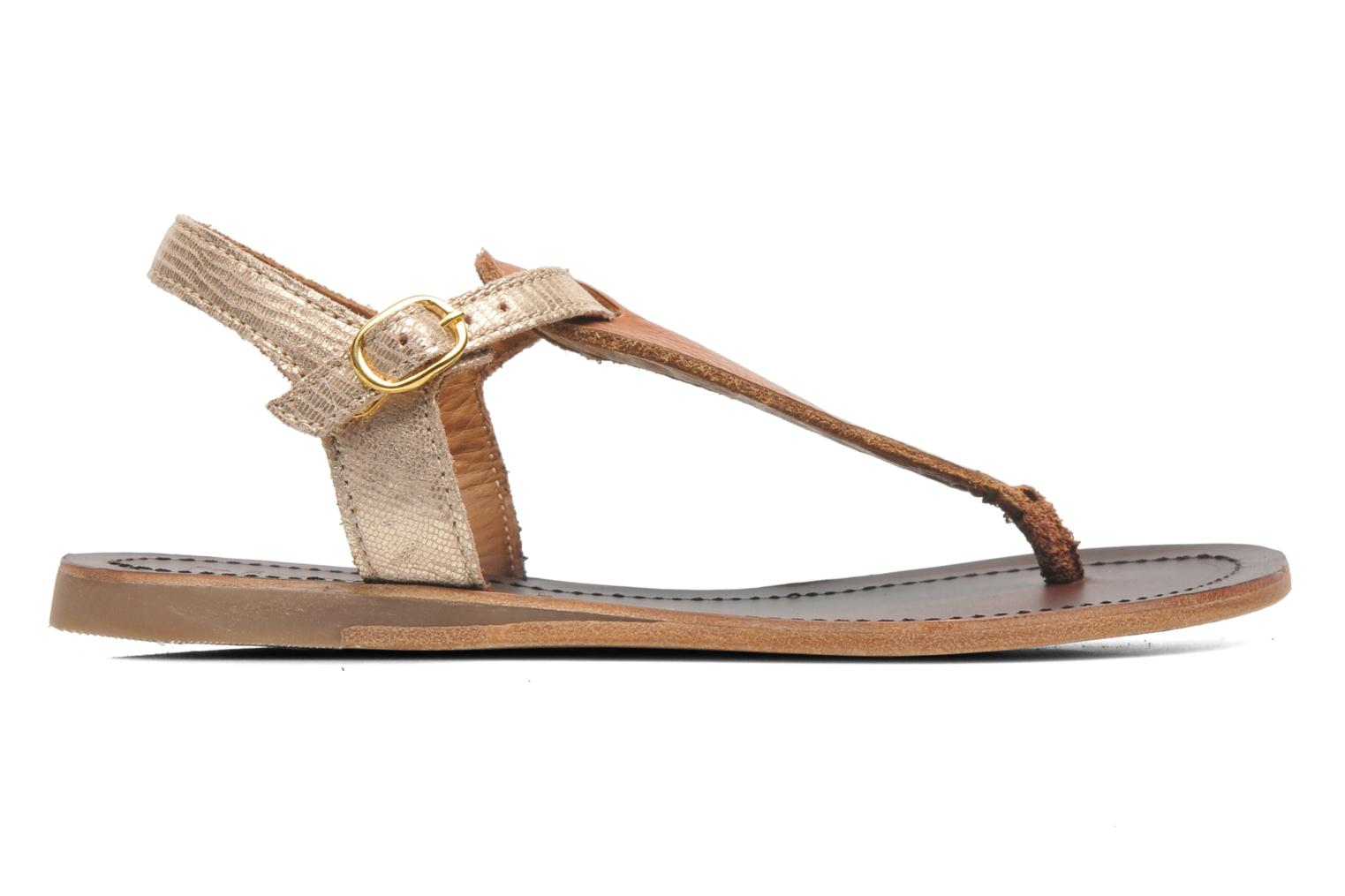 Sandals Bisgaard Jette Bronze and Gold back view