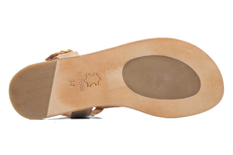 Sandales et nu-pieds Bisgaard Jette Or et bronze vue haut
