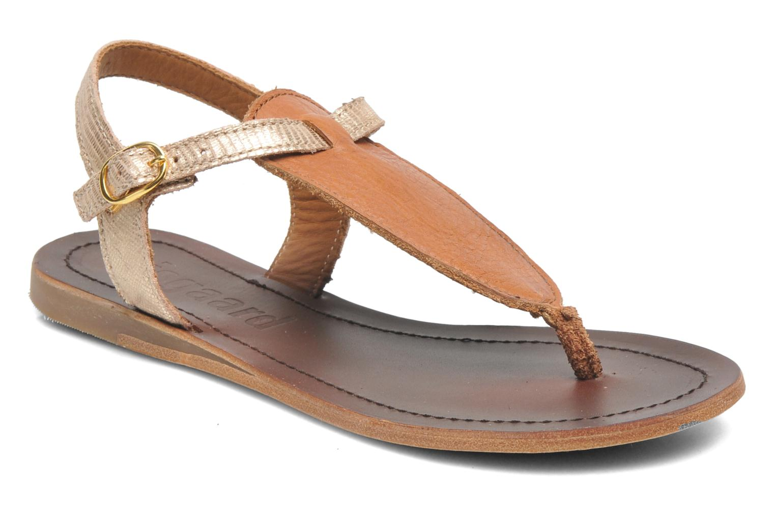 Sandals Bisgaard Jette Bronze and Gold detailed view/ Pair view