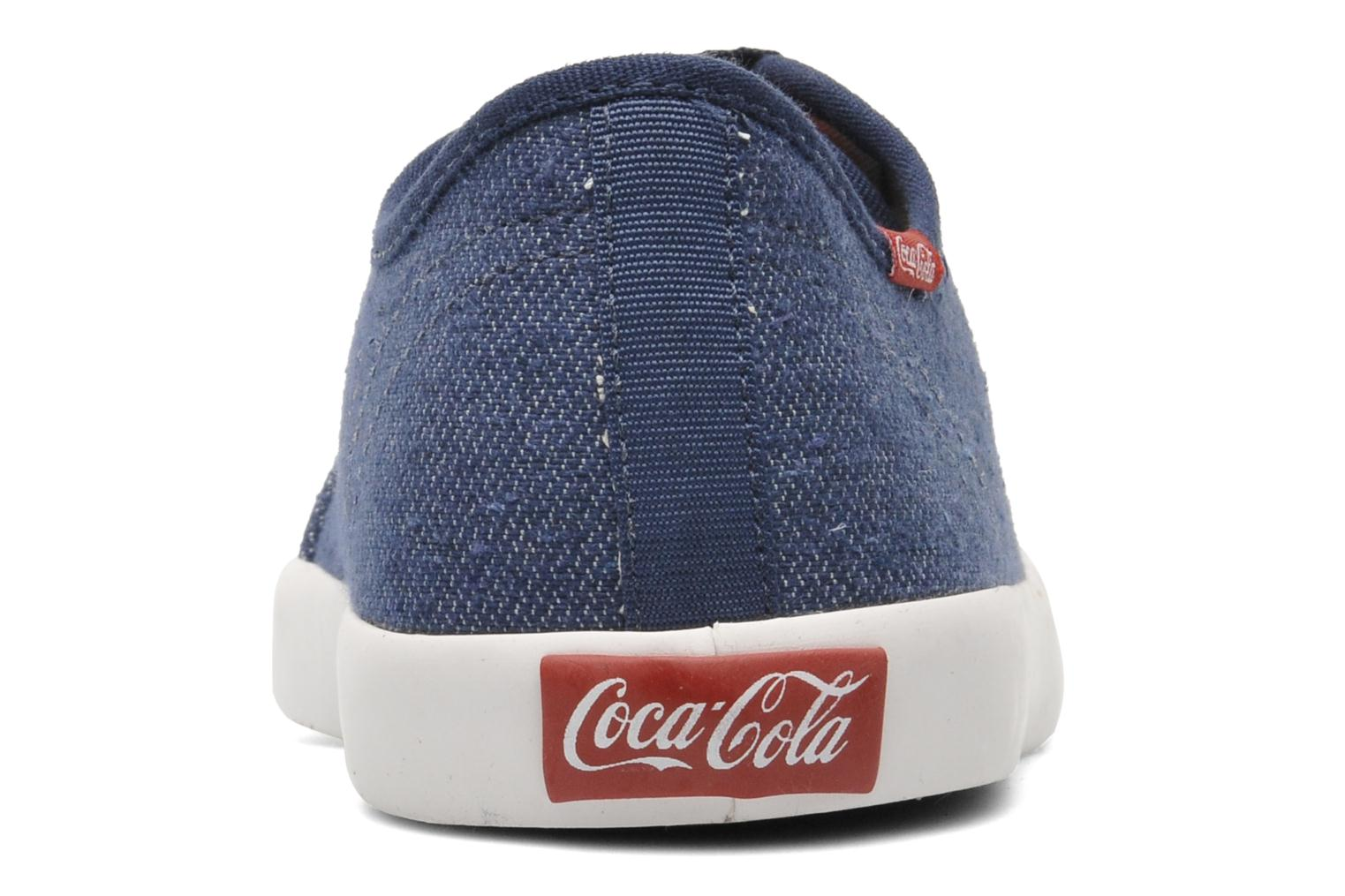 Baskets Coca-cola shoes Wake Bleu vue droite