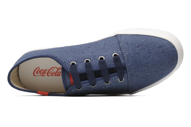 Baskets Coca-cola shoes Wake Bleu vue gauche