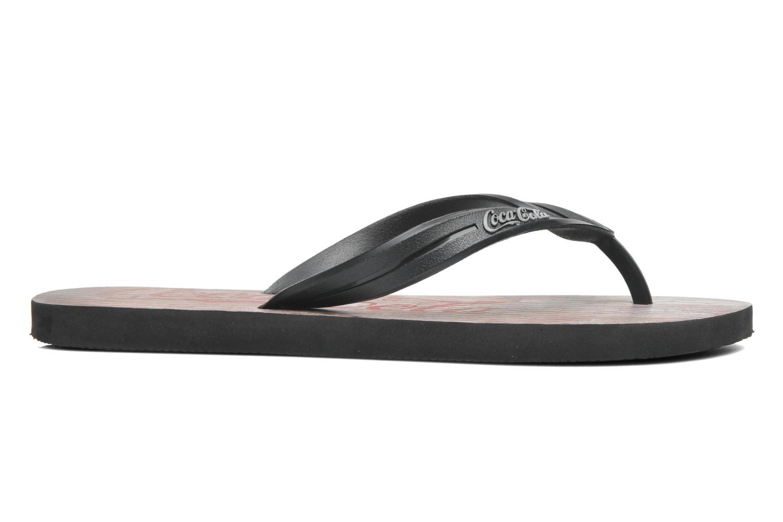 Flip flops Coca-cola shoes Wood Black back view
