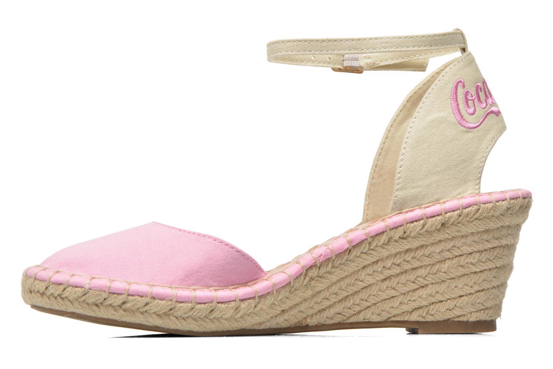 Sandali e scarpe aperte Coca-cola shoes Juta City Rosa immagine frontale