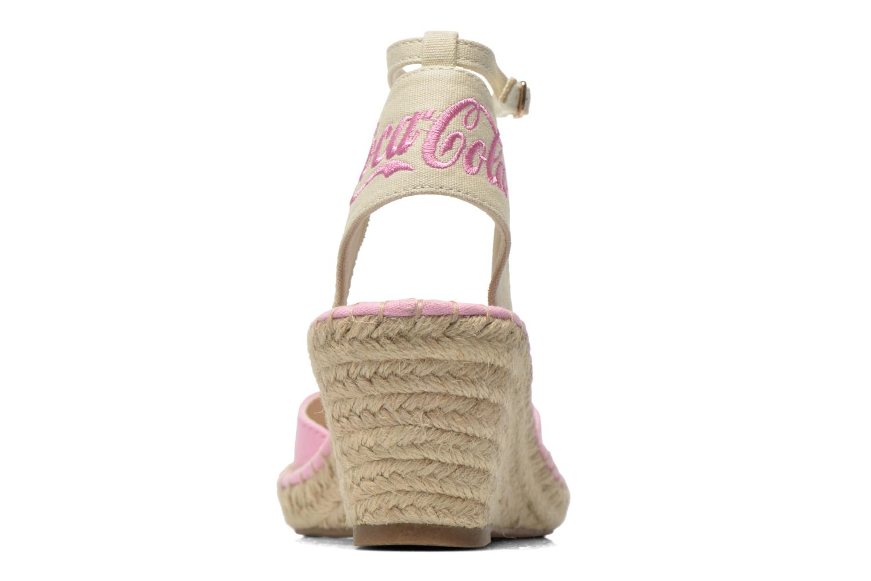 Sandali e scarpe aperte Coca-cola shoes Juta City Rosa immagine destra