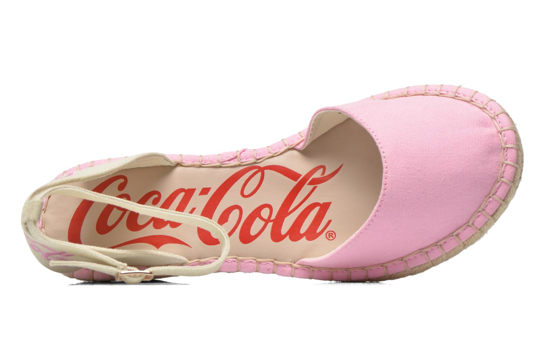 Sandali e scarpe aperte Coca-cola shoes Juta City Rosa immagine sinistra