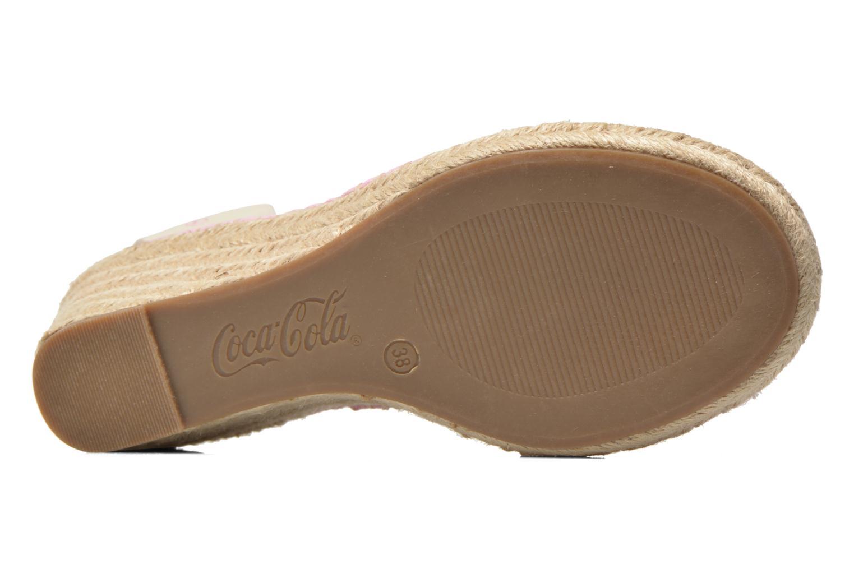 Sandales et nu-pieds Coca-cola shoes Juta City Rose vue haut