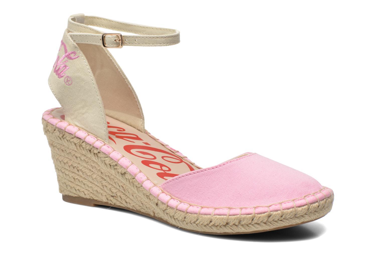 Sandaler Coca-cola shoes Juta City Pink detaljeret billede af skoene
