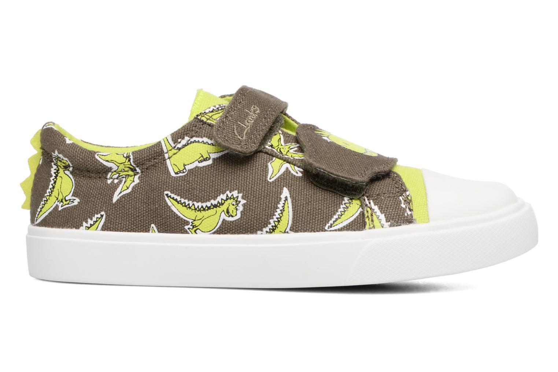 Sneakers Clarks Tricer Roar Grøn se bagfra