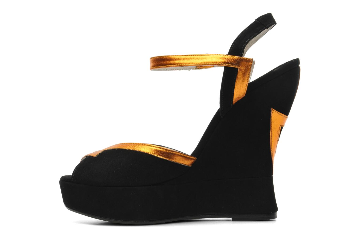 Sandalias Terry de Havilland Izzy Negro vista de frente