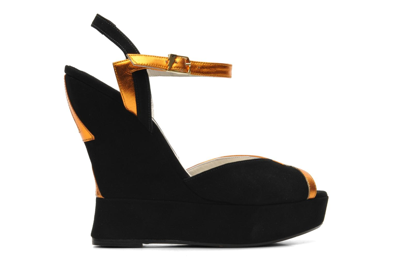 Sandales et nu-pieds Terry de Havilland Izzy Noir vue derrière