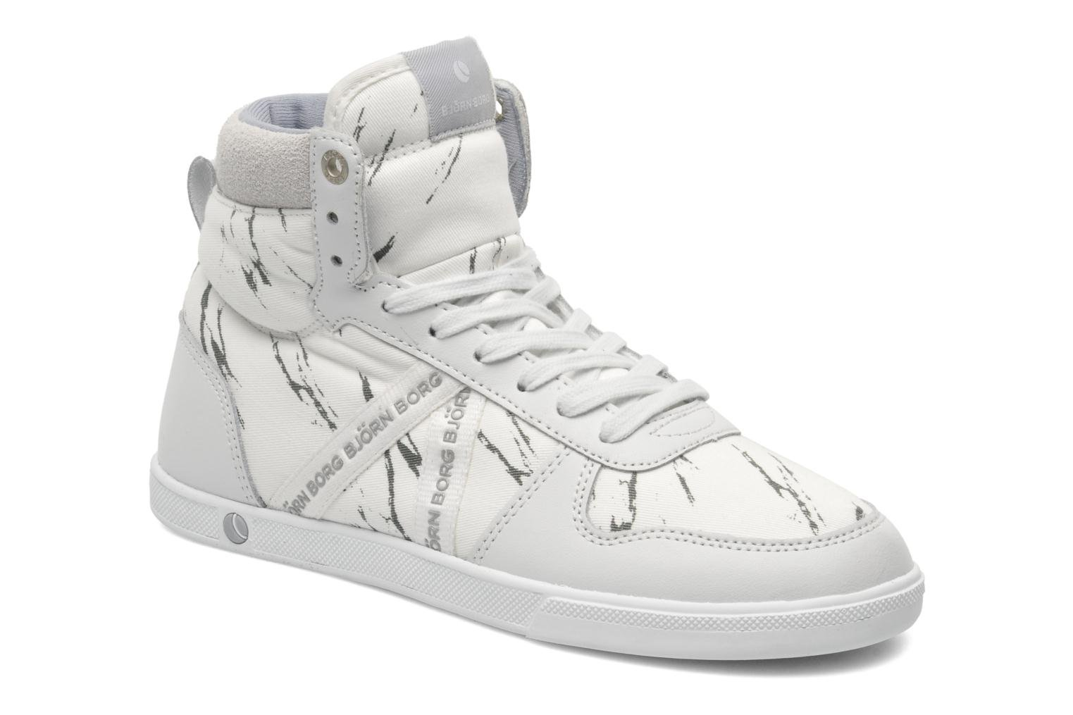 Trainers Björn Borg X100 MID MRB W White detailed view/ Pair view