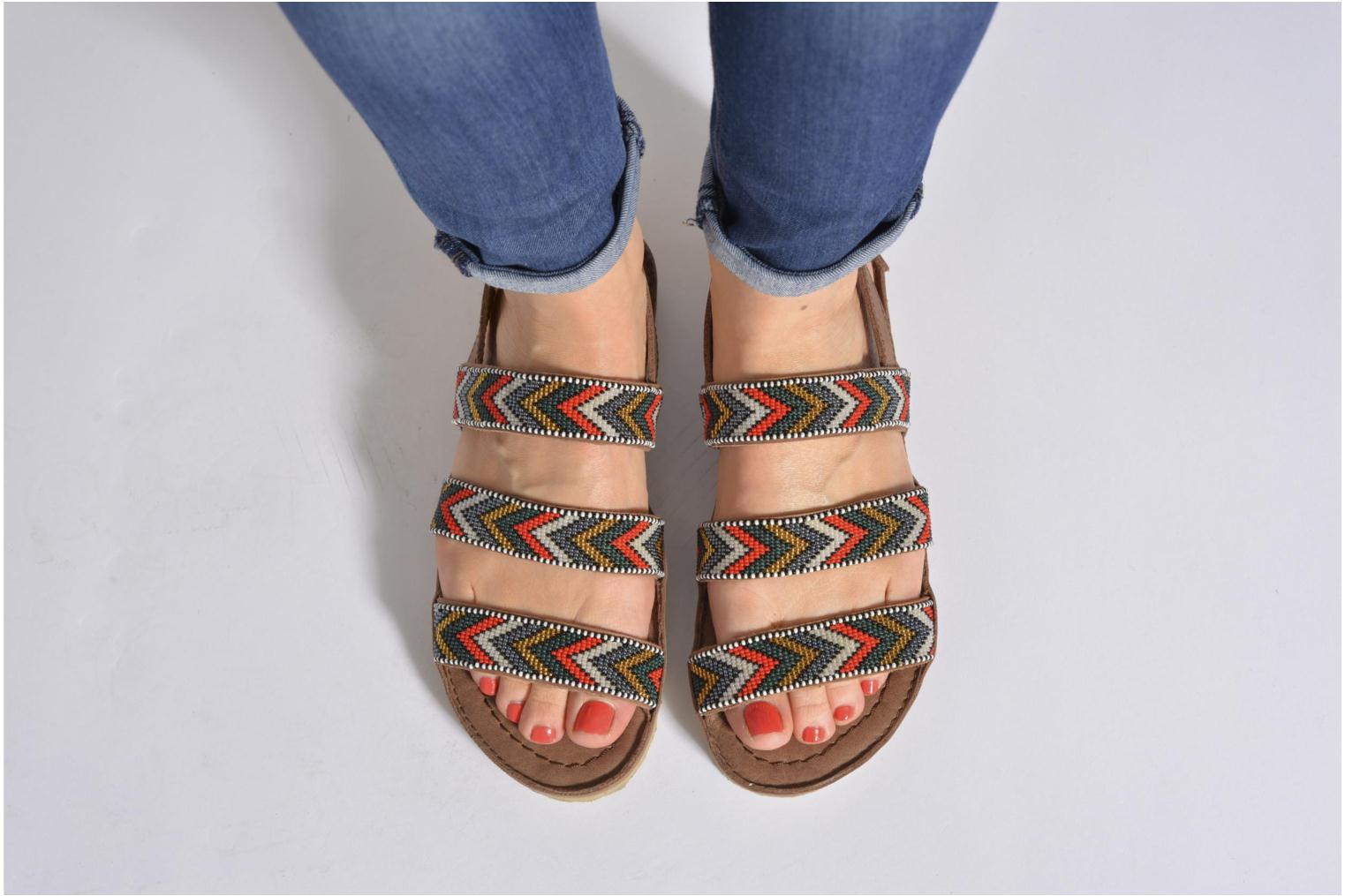 Sandals Laidback London Gatsby Brown view from underneath / model view