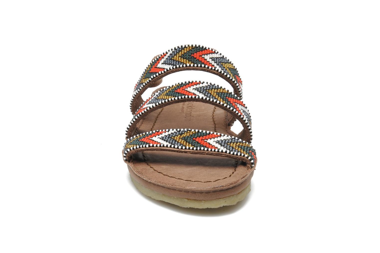 Sandales et nu-pieds Laidback London Gatsby Marron vue portées chaussures