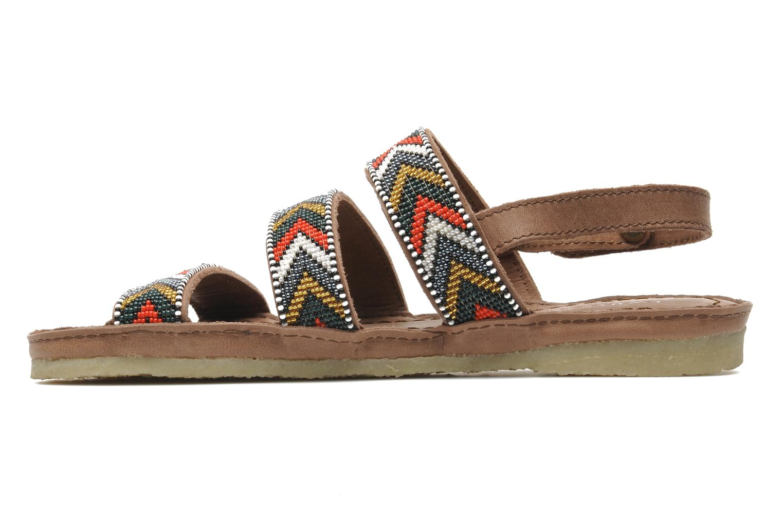 Sandals Laidback London Gatsby Brown front view