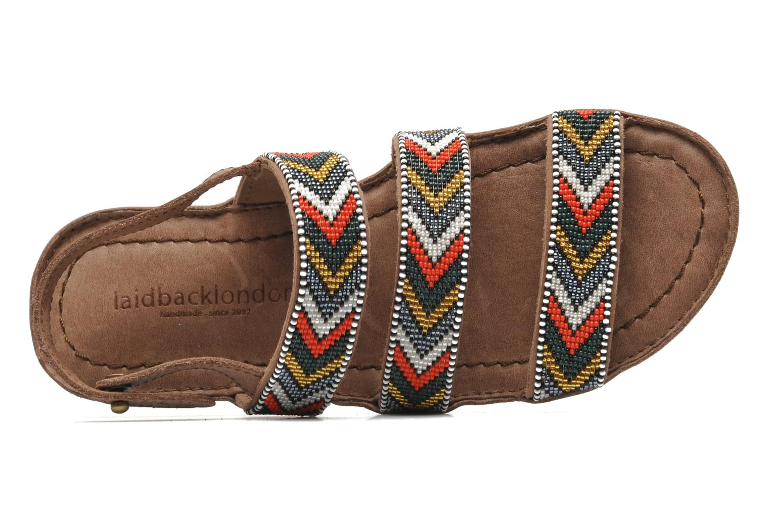 Sandals Laidback London Gatsby Brown view from the left