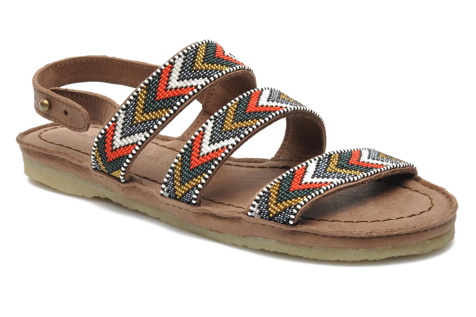 Sandals Laidback London Gatsby Brown detailed view/ Pair view