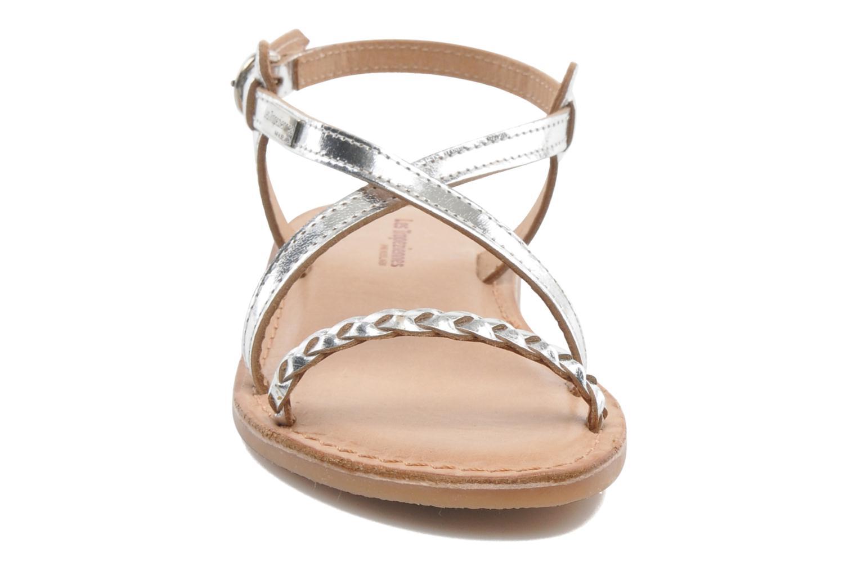 Sandales et nu-pieds Les Tropéziennes par M Belarbi Baladin Argent vue portées chaussures