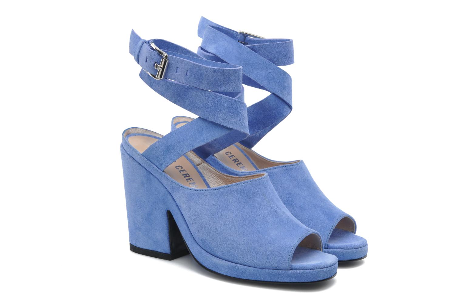 Sandals Opening Ceremony Emi platform sandal Blue 3/4 view