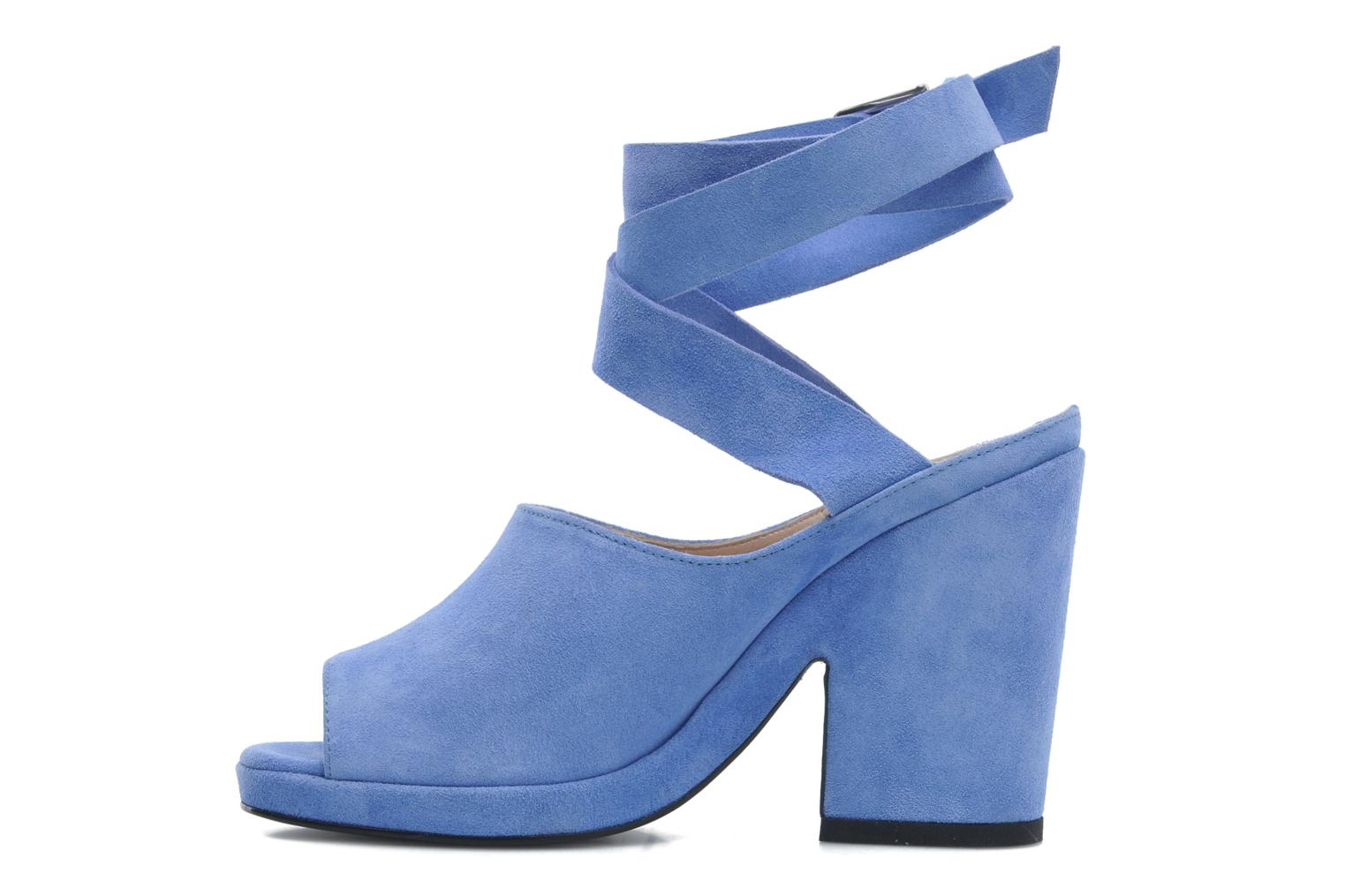 Sandals Opening Ceremony Emi platform sandal Blue front view